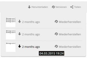 Dateiversionen in Wolkesicher nutzen